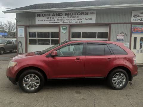 2008 Ford Edge for sale at Richland Motors in Cleveland OH