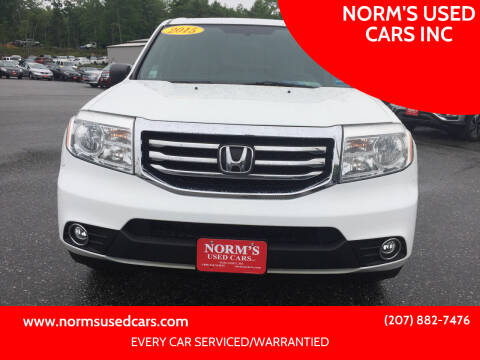 2015 Honda Pilot for sale at NORM'S USED CARS INC in Wiscasset ME