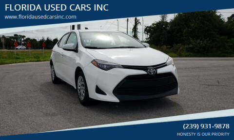 2017 Toyota Corolla for sale at FLORIDA USED CARS INC in Fort Myers FL
