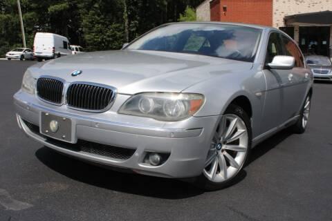 2008 BMW 7 Series for sale at Atlanta Unique Auto Sales in Norcross GA