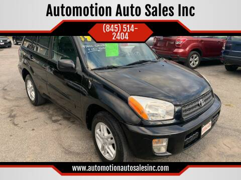 2003 Toyota RAV4 for sale at Automotion Auto Sales Inc in Kingston NY