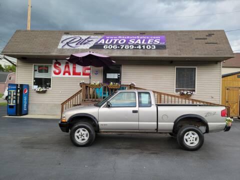 1999 Chevrolet S-10 for sale at Ritz Auto Sales, LLC in Paintsville KY