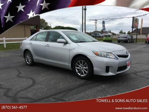 2011 Toyota Camry Hybrid for sale at Towell & Sons Auto Sales in Manila AR