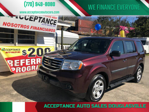 2015 Honda Pilot for sale at Acceptance Auto Sales Douglasville in Douglasville GA