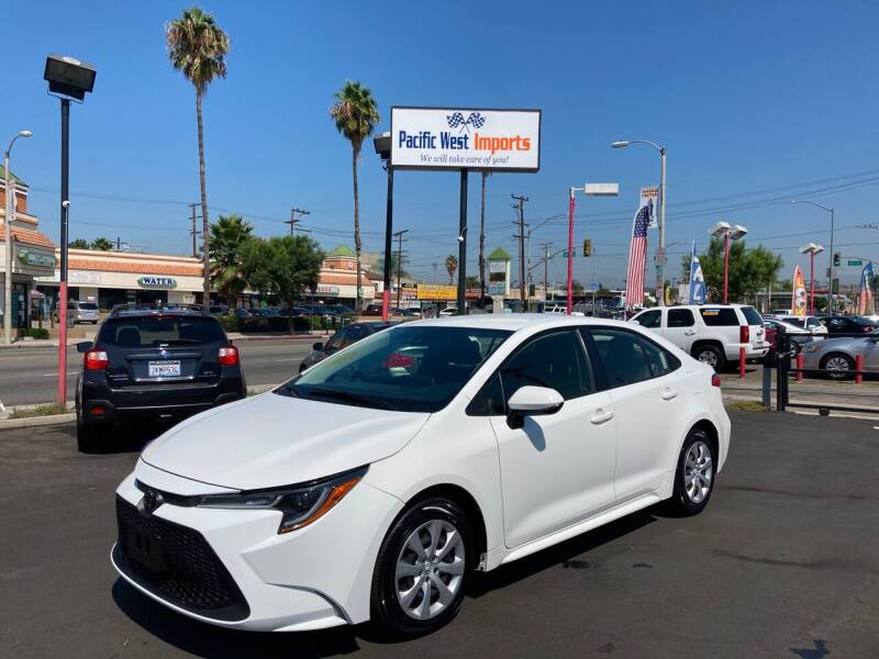 2020 Toyota Corolla for sale at Pacific West Imports in Los Angeles CA