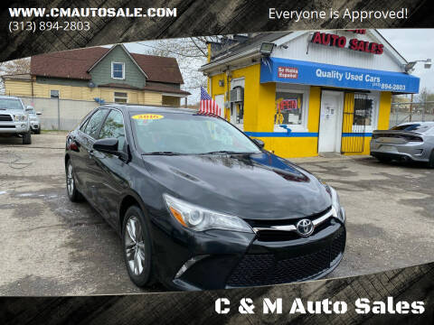 2016 Toyota Camry for sale at C & M Auto Sales in Detroit MI