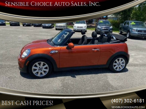 2013 MINI Convertible for sale at Sensible Choice Auto Sales, Inc. in Longwood FL
