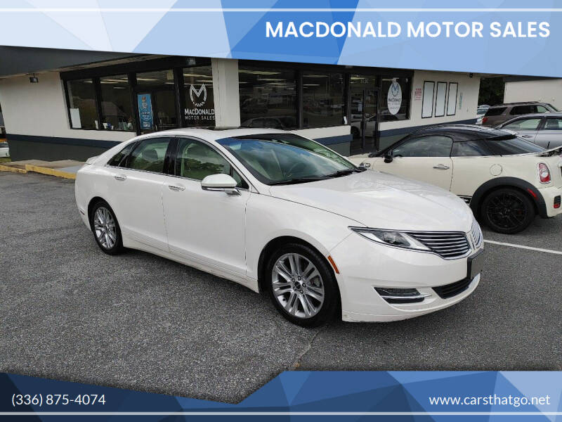 2014 Lincoln MKZ Hybrid for sale at MacDonald Motor Sales in High Point NC