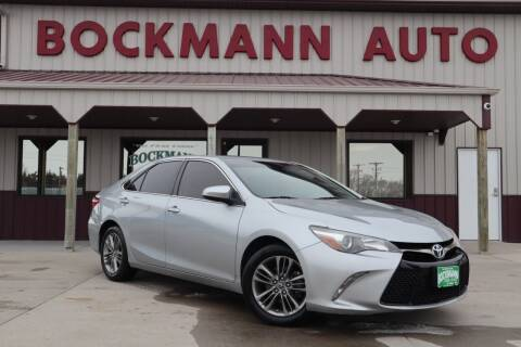 2015 Toyota Camry for sale at Bockmann Auto Sales in St. Paul NE