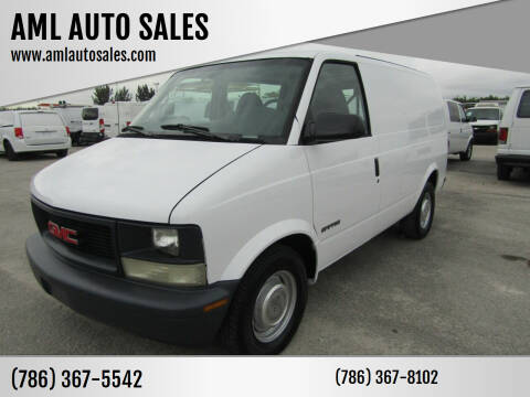 1996 GMC Safari Cargo for sale at AML AUTO SALES - Cargo Vans in Opa-Locka FL