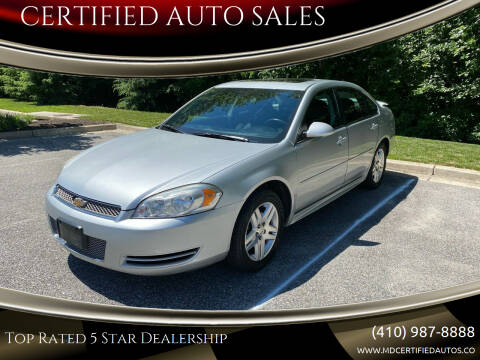 2012 Chevrolet Impala for sale at CERTIFIED AUTO SALES in Severn MD