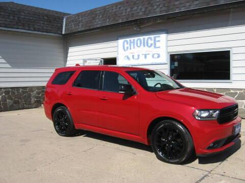 2015 Dodge Durango for sale at Choice Auto in Carroll IA
