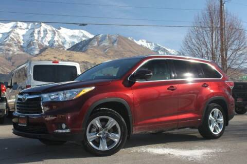 2016 Toyota Highlander for sale at REVOLUTIONARY AUTO in Lindon UT