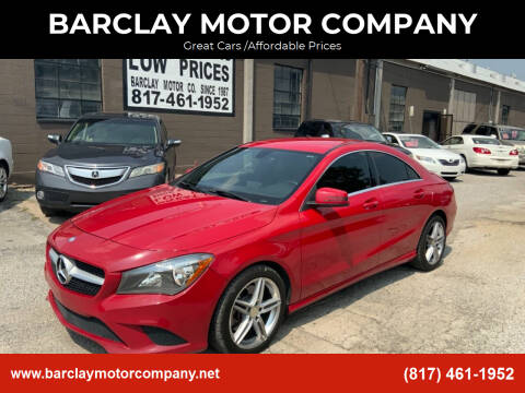 2014 Mercedes-Benz CLA for sale at BARCLAY MOTOR COMPANY in Arlington TX