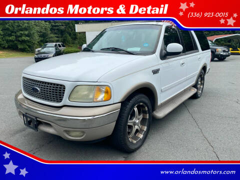 2002 Ford Expedition for sale at Orlandos Motors & Detail in Winston Salem NC