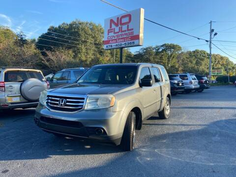 2013 Honda Pilot for sale at No Full Coverage Auto Sales in Austell GA