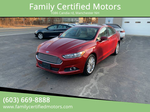 2016 Ford Fusion for sale at Family Certified Motors in Manchester NH