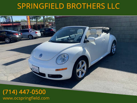 2007 Volkswagen New Beetle Convertible for sale at SPRINGFIELD BROTHERS LLC in Fullerton CA