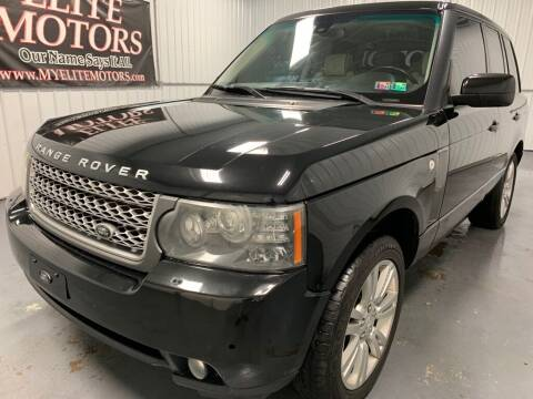 2010 Land Rover Range Rover for sale at Elite Motors in Uniontown PA