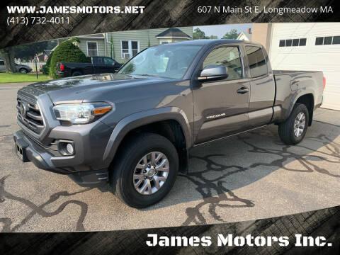 2018 Toyota Tacoma for sale at James Motors Inc. in East Longmeadow MA