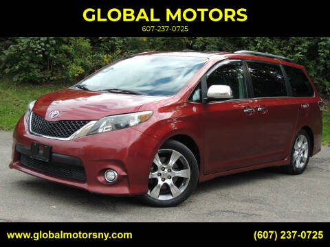 2013 Toyota Sienna for sale at GLOBAL MOTORS in Binghamton NY