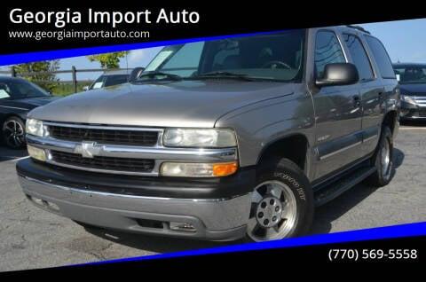 2003 Chevrolet Tahoe for sale at Georgia Import Auto in Alpharetta GA