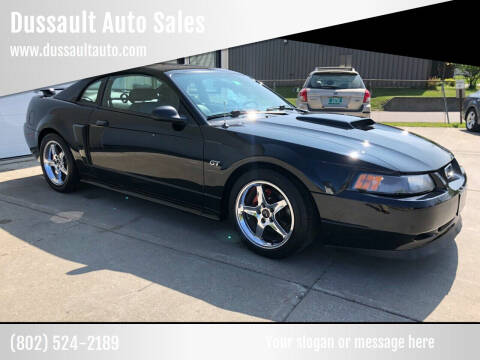 2002 Ford Mustang for sale at Dussault Auto Sales in Saint Albans VT