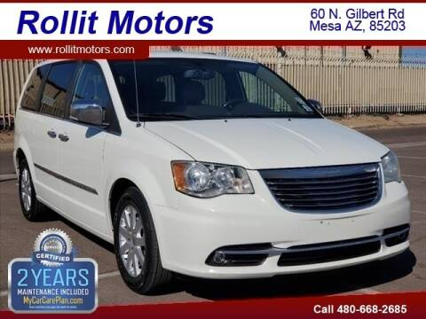 2012 Chrysler Town and Country for sale at Rollit Motors in Mesa AZ