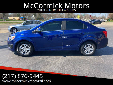 2013 Chevrolet Sonic for sale at McCormick Motors in Decatur IL