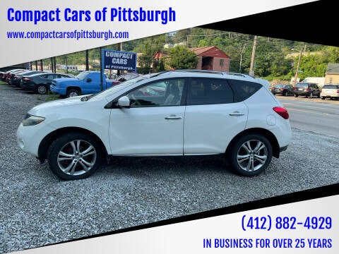 2009 Nissan Murano for sale at Compact Cars of Pittsburgh in Pittsburgh PA