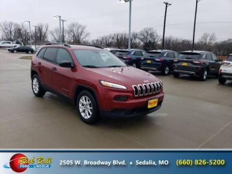 2016 Jeep Cherokee for sale at RICK BALL FORD in Sedalia MO