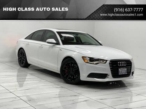2012 Audi A6 for sale at HIGH CLASS AUTO SALES in Rancho Cordova CA