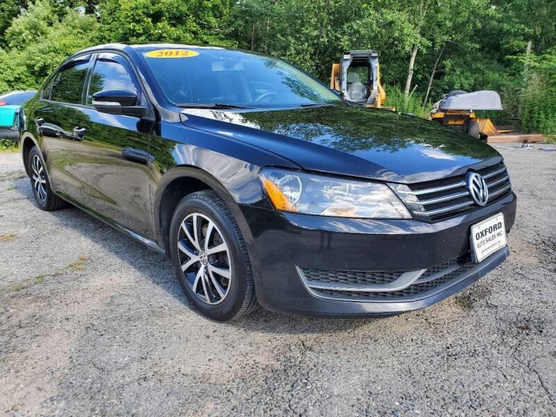 2012 Volkswagen Passat for sale at Oxford Auto Sales in North Oxford MA