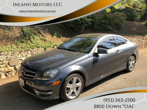 2015 Mercedes-Benz C-Class for sale at Inland Motors LLC in Riverside CA