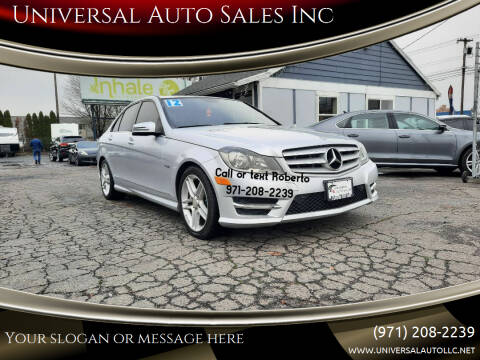 2012 Mercedes-Benz C-Class for sale at Universal Auto Sales Inc in Salem OR