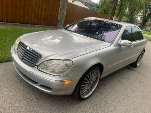 2003 Mercedes-Benz S-Class for sale at FINANCIAL CLAIMS & SERVICING INC in Hollywood FL