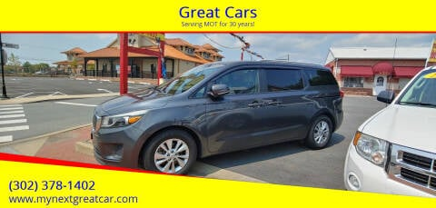 2015 Kia Sedona for sale at Great Cars in Middletown DE