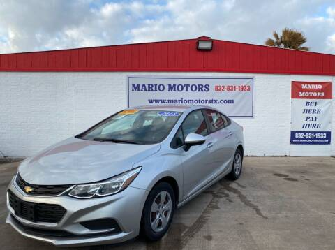 2018 Chevrolet Cruze for sale at Mario Motors in South Houston TX