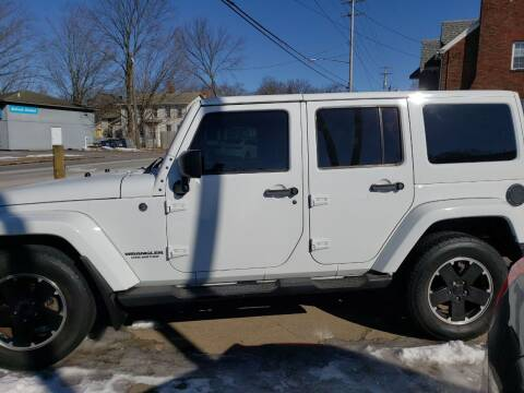 2012 Jeep Wrangler Unlimited for sale at COLONIAL AUTO SALES in North Lima OH