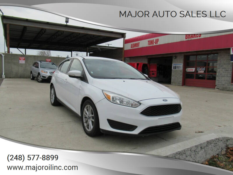 2017 Ford Focus for sale at Major Auto Sales LLC in Madison Heights MI