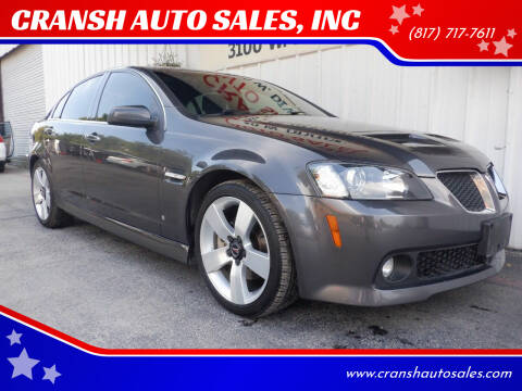 2009 Pontiac G8 for sale at CRANSH AUTO SALES, INC in Arlington TX