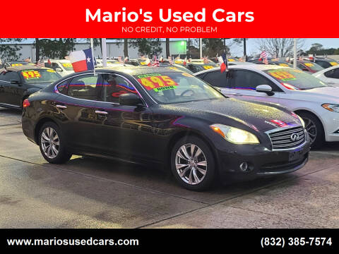 2012 Infiniti M37 for sale at Mario's Used Cars in Houston TX