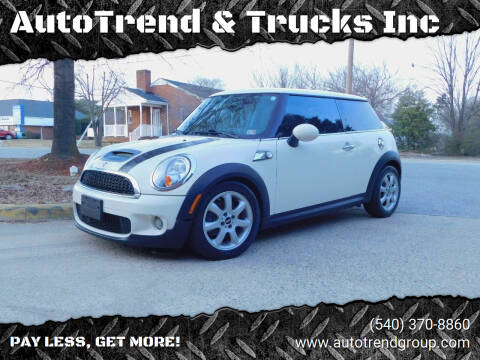 2010 MINI Cooper for sale at AutoTrend & Trucks Inc in Fredericksburg VA
