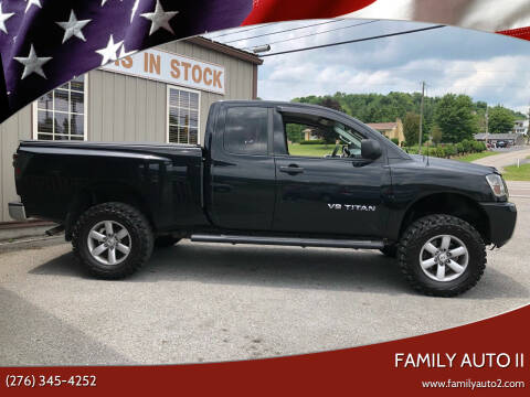 2015 Nissan Titan for sale at FAMILY AUTO II in Pounding Mill VA