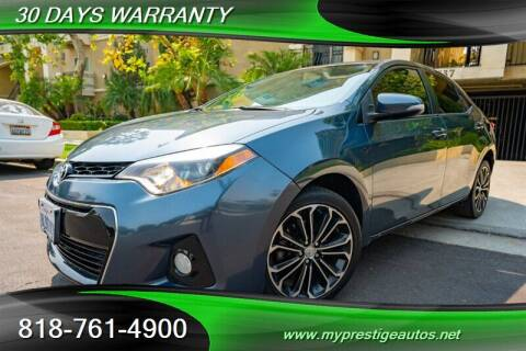 2015 Toyota Corolla for sale at Prestige Auto Sports Inc in North Hollywood CA