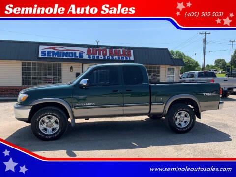2001 Toyota Tundra for sale at Seminole Auto Sales in Seminole OK