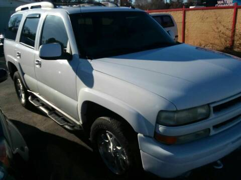 2002 Chevrolet Tahoe for sale at Marvelous Motors in Garden City ID