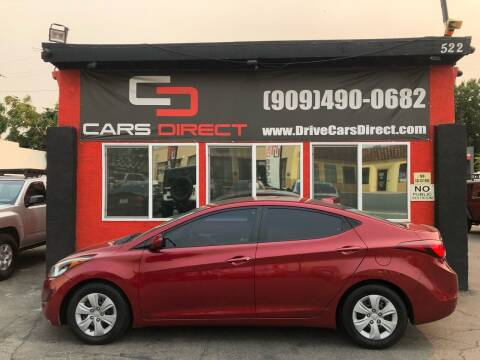 2016 Hyundai Elantra for sale at Cars Direct in Ontario CA