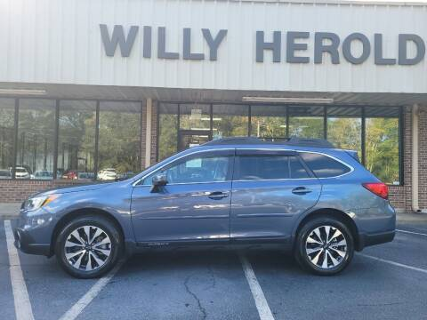2017 Subaru Outback for sale at Willy Herold Automotive in Columbus GA