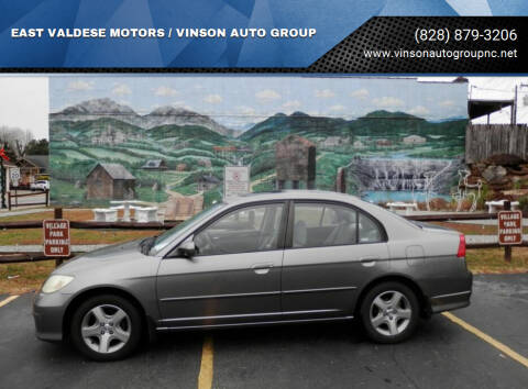 2004 Honda Civic for sale at EAST VALDESE MOTORS / VINSON AUTO GROUP in Valdese NC